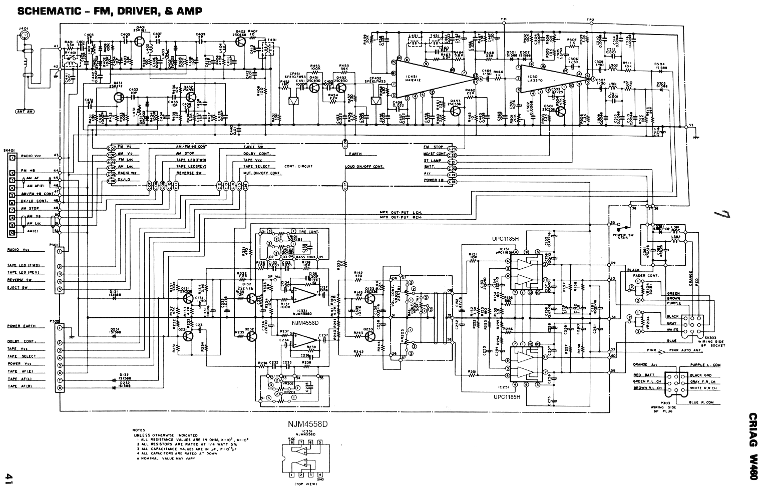 the 1561 project craig auxiliary audio input rh 1561project com Chevy Factory Radio Wiring Diagram Dual Radio Wiring Diagram